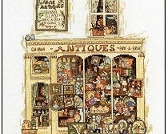 Permin Cross Stitch PATTERN/GRAPH   Antique Shop store front NEW