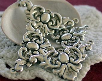 Metal Stampings, Vintage Style Stampings, Brass Stampings, Findings, Jewelry Findings, Links STA-029