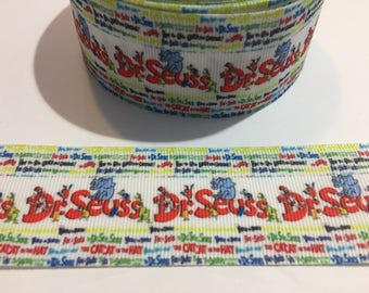2 Yards of Ribbon - Inspired by Dr Seuss Horton the Who 1.5 Inches Wide