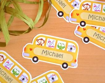School Bus Lovelia -Bookplates- Set of 10