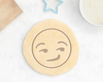 Smirking Emoji Cookie Cutter – Emoji Gift Emoji Birthday Cookie Cutter Emoji Bachelorette Party Poop Emoji Party Flirting Emoji Kiss Emoji