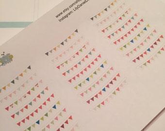 27 MDN Bunting Banner Planner Stickers for Erin Condren Life Planner (ECLP) Reminder Sticker LDD1074