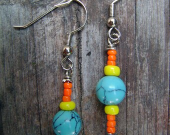 Colorful Turquoise Earrings