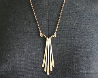 Genie Tassel Gypsy Tribal Necklace in Antiqued Brass or Sterling Silver
