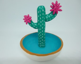 Jewelry and cactus ring dish