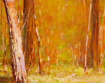 Fall Landscape oil Painting on Canvas Original Signed Handmade Painting  One of a Kind