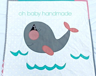 Baby whale quilt