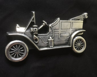 Vintage Car Wall Plaque/Desk Ornament/Paper Weight.