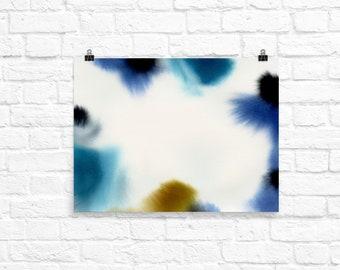 Abstract Wall Art, Abstract Watercolor Painting, Watercolor Wall Art, Wall Art, Art, Abstract Watercolor, Watercolor Painting, Abstract,Blue