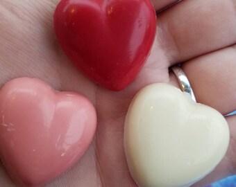12 Mini heart shaped lollipops
