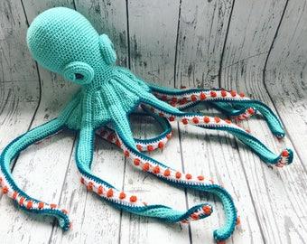 Olly the Octopus, Crochet Octopus Stuffed Animal, Octopus Amigurumi, Plush Animal, Made to Order