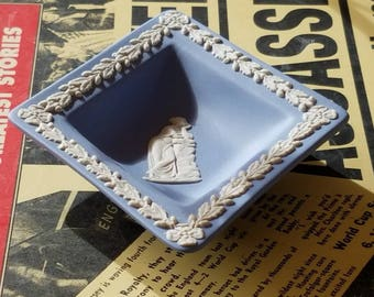 "Vintage ""Wedgwood"" Blue & White Tray/Pin Dish! Made in England!"