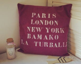 Personalized pillow cover