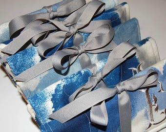Jewelry Roll, Set of 4, Jewelry Organizer, Travel Jewelry Roll, Travel Jewelry Case, Jewelry Roll Bag, Bridesmaid Gift, Personalized Gift