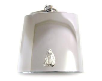 Monkey 6 oz. Stainless Steel Flask