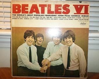 Vintage 1965 Vinyl LP Record Beatles VI Capitol Records T-2358 See Label Variation Very Good Condition 12923