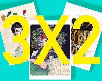 3X2_Print Offer A6 _ illustration _ Digital _ Art Print _ Drawing