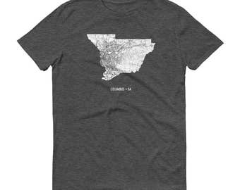 Columbus Shirt, Columbus OH, Columbus TShirt, Columbus Gift, Columbus Tee, Columbus Map, Ohio Shirt, Ohio Map, Columbus Art, Ohio State Map