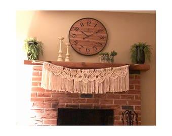 Macrame Fireplace Decor / Home Decor