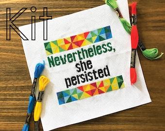 Cross stitch kit, nevertheless, counted cross stitch kit