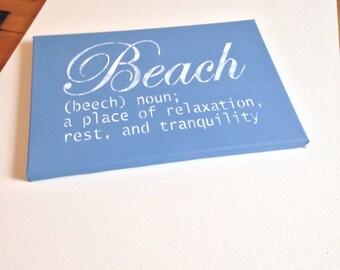 """Beach 10""""x14"""" Wall Canvas"""