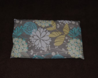 Grey Floral Rice Hot Pack