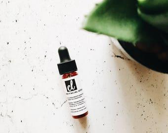 TRIAL SIZE / facial SERUM / face serum / vegan / organic serum / vegan skincare / serum / fairtrade / essential oils / oils // anti aging /