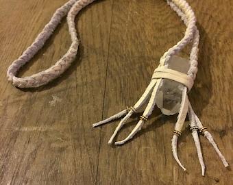 Spiritual Healer Crystal Necklace - Cream