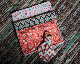 Aztec Teether & Burp Cloth Combo Pack