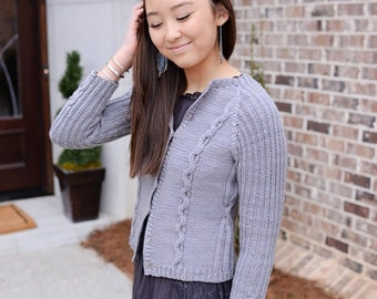 make your own Morning Coffee Cardigan (DIGITAL KNITTING PATTERN) for women