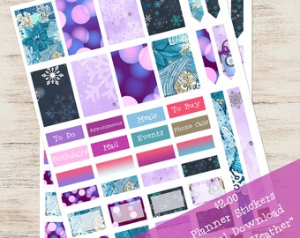 Winter Weather Planner Stickers