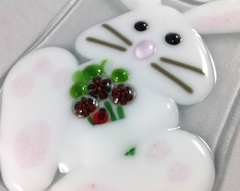 Easter Bunny, Rabbit, Easter, Starter Set, Wall Plug, Plug in, Changeable, Night Light, Nightlight, Fused Glass