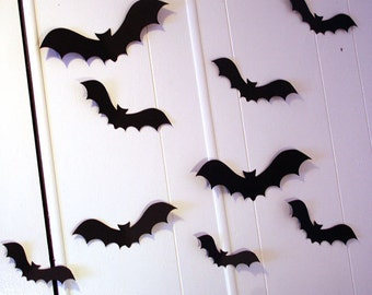 3D Wall Decor, Flying Bats Wall Decor, Halloween Party Decorations, Custom Wall Art, Gothic Wall Art, Halloween Decorations, Custom Party