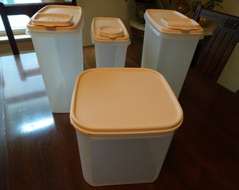 Vintage Tupperware, Tupperware Cannisters, Tupperware Containers, l980's Tupperware, Storage Containers, Vintage Kitchen, MidCentury Modern