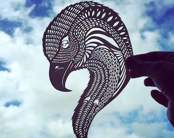 Spirit of an Eagle - Jo Chorny - papercut art