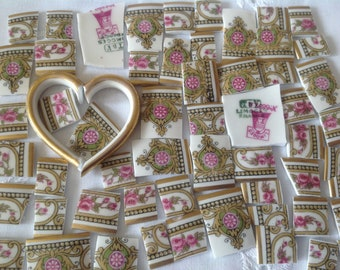 Broken China mosaic tiles~~Handcut Tile~~~ LOVE the LIMOGES