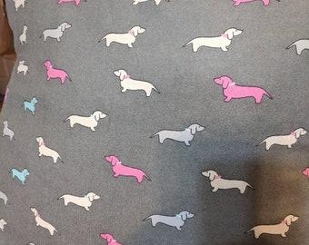 Weenie dog pillow