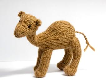 Camel Fiber Sculpture, Knit Camel, Desert Animal, Dromedary, Arabian Camel, Wool, Natural Fibers