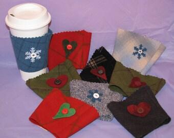Wool coffee cozy