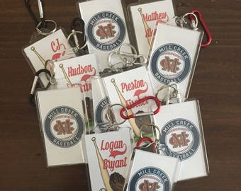 Custom Personalized Bat Bag Tags* Sports Tags * Baseball Bat Bag Tags * Softball Bat Bag Tags