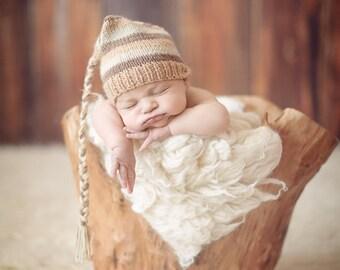 15% off SALE Newborn hat, newborn photo prop, newborn boy, newborn girl, newborn props, newborn elf hat, newborn knit hat, newborn prop