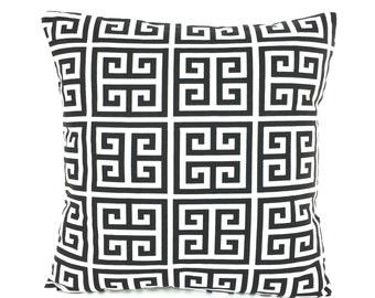 Black White Greek Key Decorative Throw Pillow Cushion Cover All Sizes Black White Couch Sofa Pillows Bedding Home Decor Accent Cushion Shams