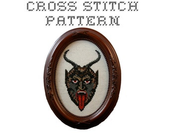 DIY Krampus - .pdf Original Cross Stitch Pattern - Instant Download