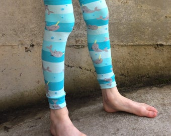Narwhal Leg Warmers for Baby, Toddler, Kid, Tween - Arm Warmers for Kid, Tween - Boy or Girl - Birthdays, Baby Showers, Costumes