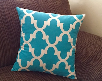 Cushion Pillow - Teal Pillow Cover - Teal Throw Pillow Cover - Accent Pillow Cover - Decorative Pillow - Toss Pillows