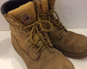 work boots distressed Brama waterproof size mens 10 1/2 vintage work boots