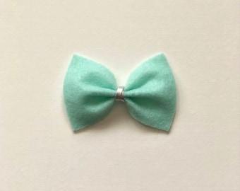 Turquoise Original Felt Bow