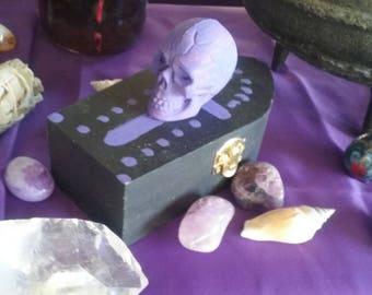 Mini handmade Coffin box
