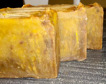 Amish Quilt scented rustic soap handmade cold process soap organic cocoa butter no palm oil soap