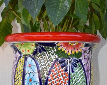 Colorful Talavera pot